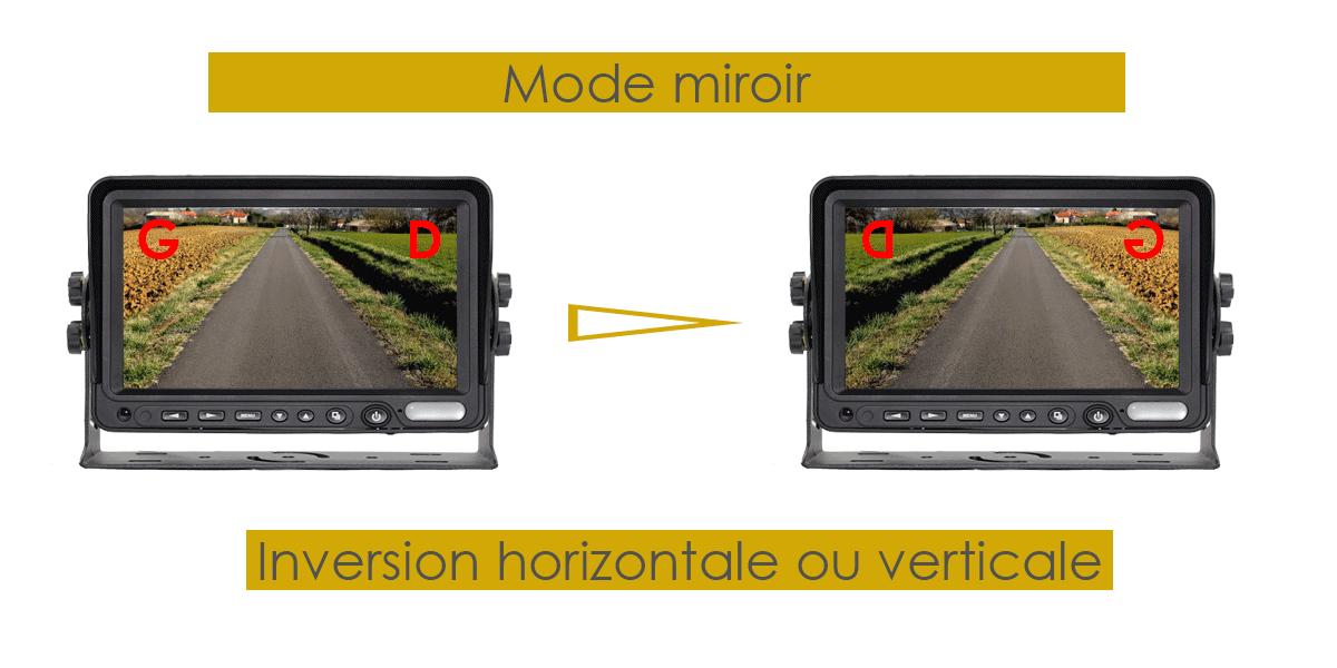 camera de recul sans fil mode miroir
